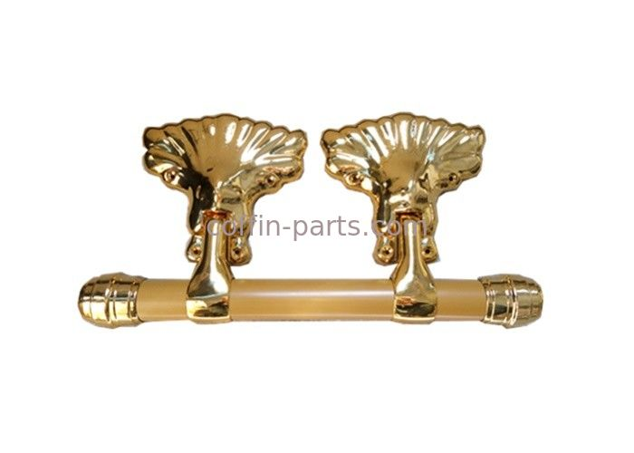 Pale Gold Adult Coffin Swing Handle African Style ABS / PP Plastic Material